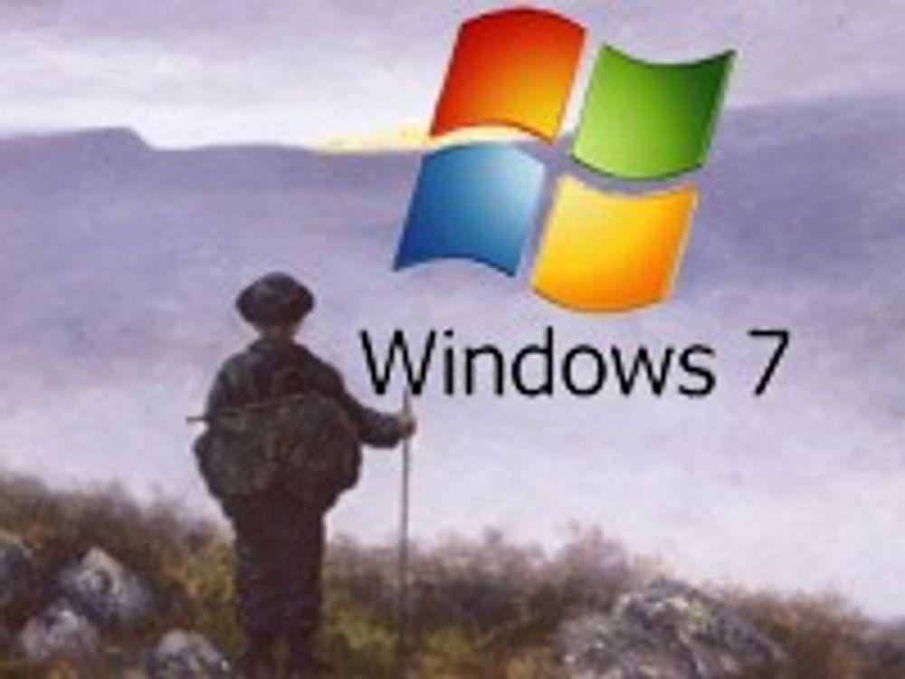 Bedriftsfelle for oppgradering til Windows 7