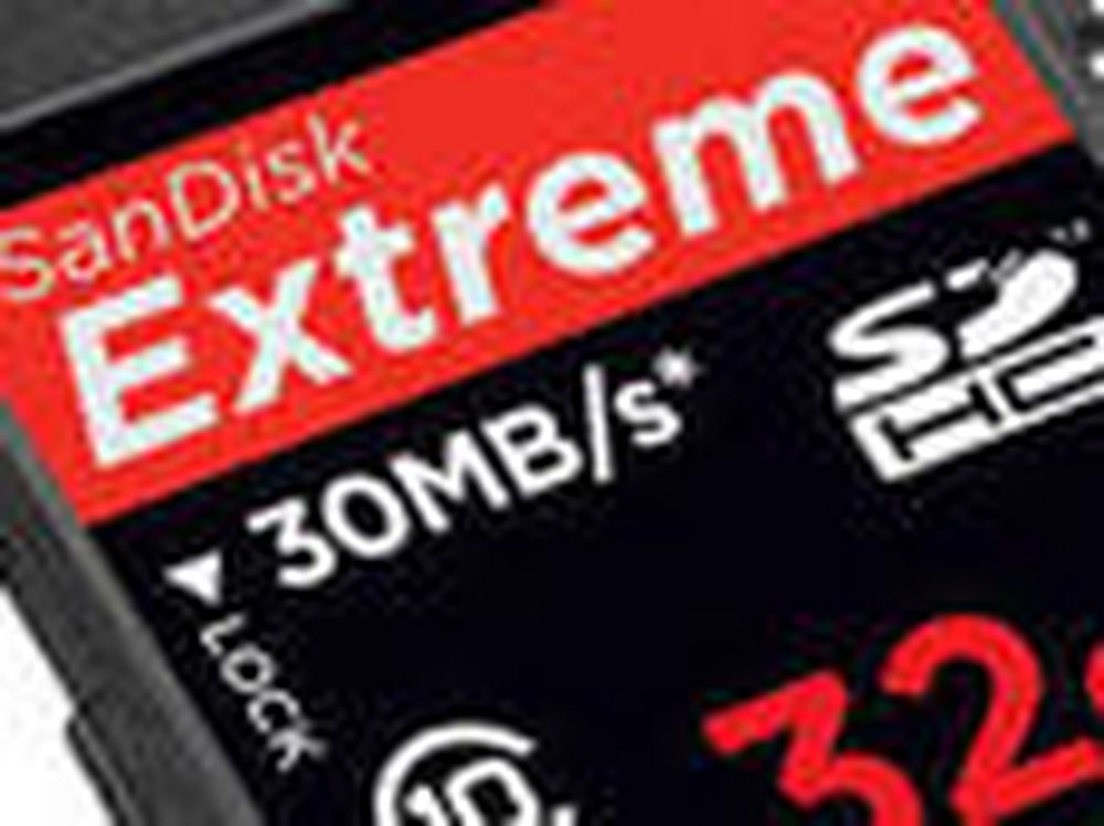 SanDisk Extreme SDHC 32 GB Class 10