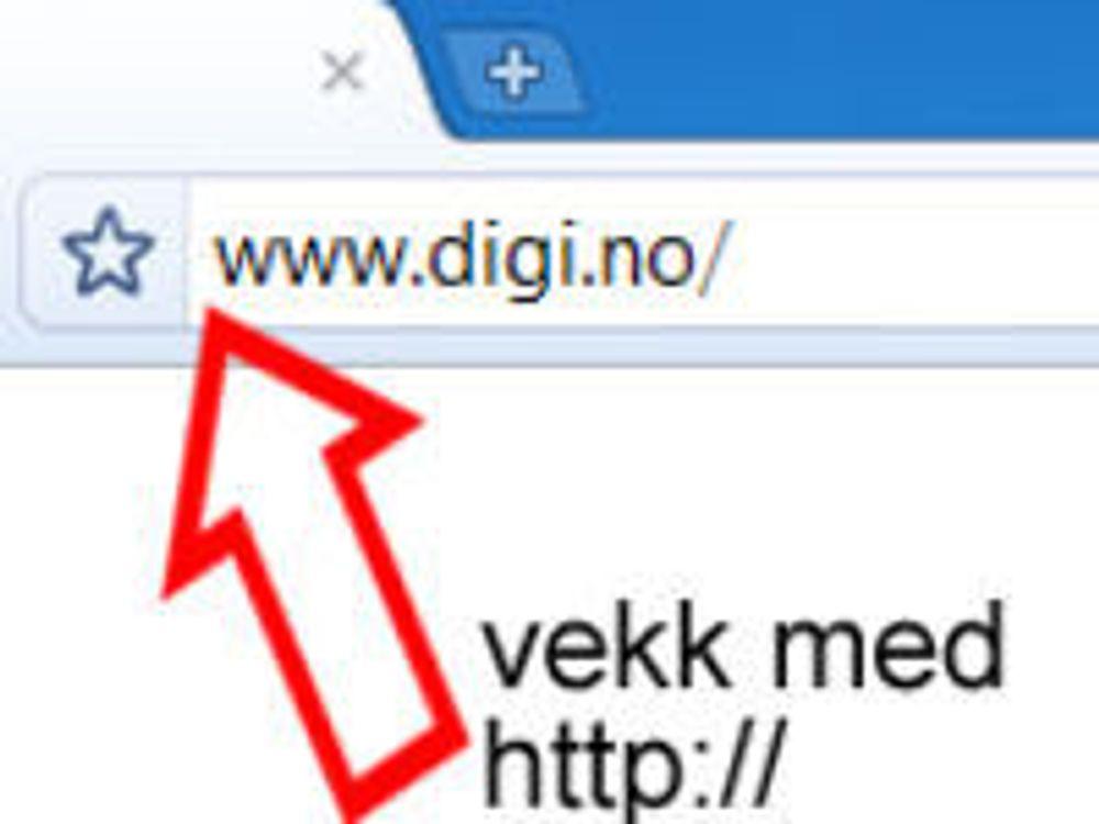 Chrome vraker «http://»