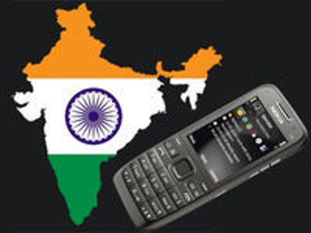 Flere mobiler enn gode doer i India