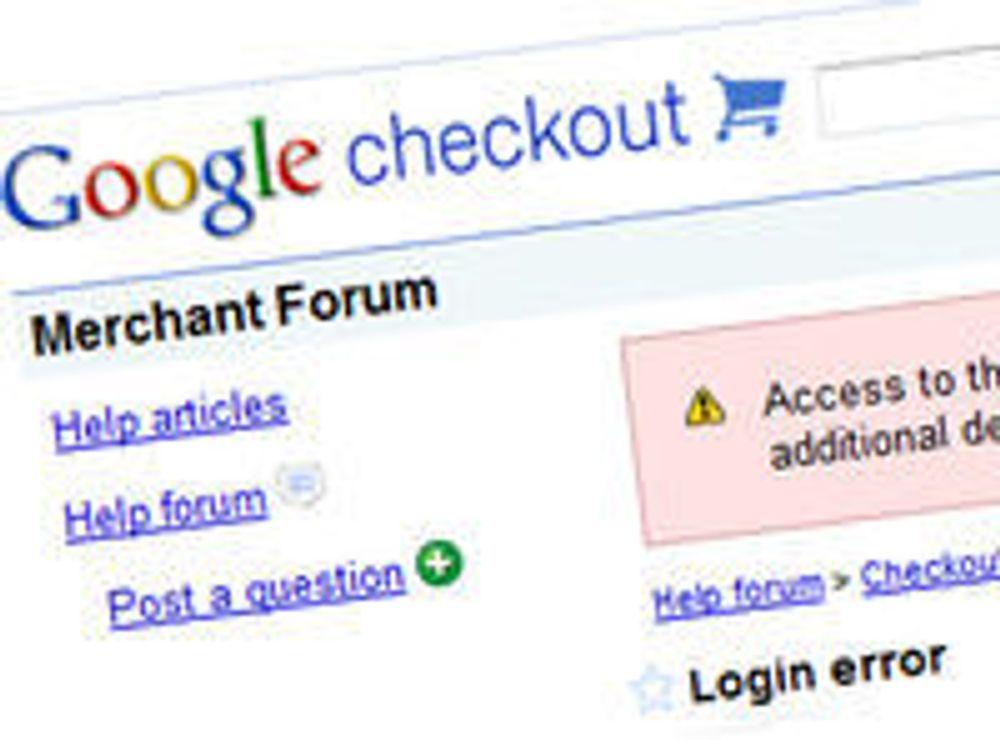 Google Checkout sjekket ut