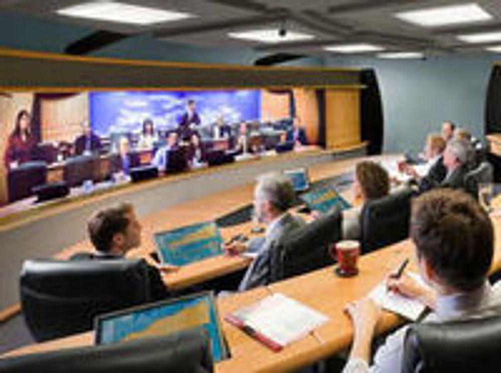 Polycom-løsning for stort videokonferanserom.