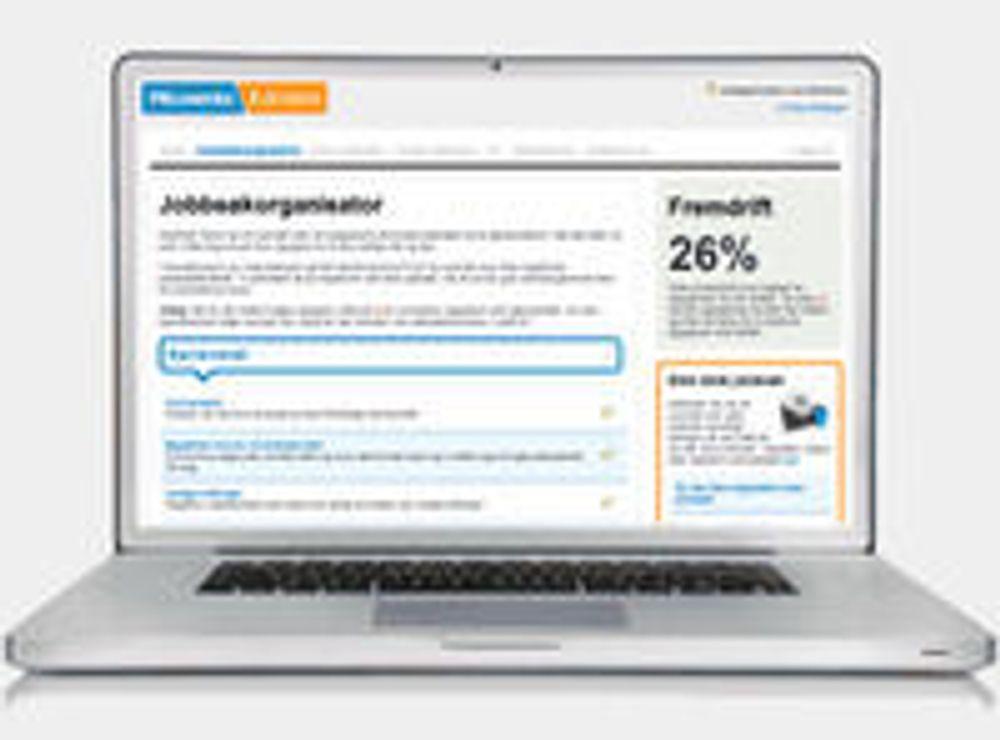 Tilbyr nettapplikasjon til jobbsøkere