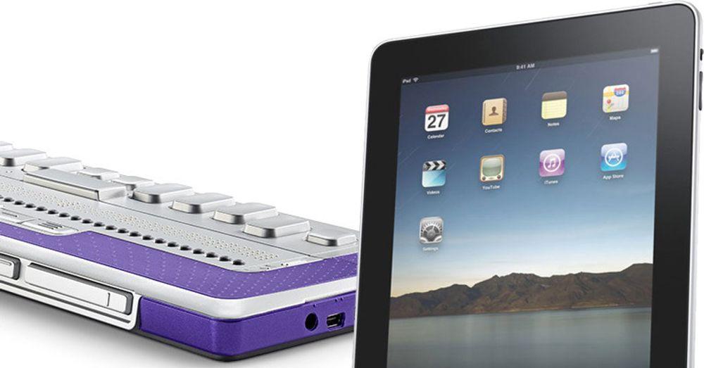 Leselist for blinde og svaksynte kan brukes på iPad idag, også med trådløs tilkopling. Med patentsøknaden åpner Apple for hjelpemidler som gir full kontroll over grensesnitt med berøringsskjerm.