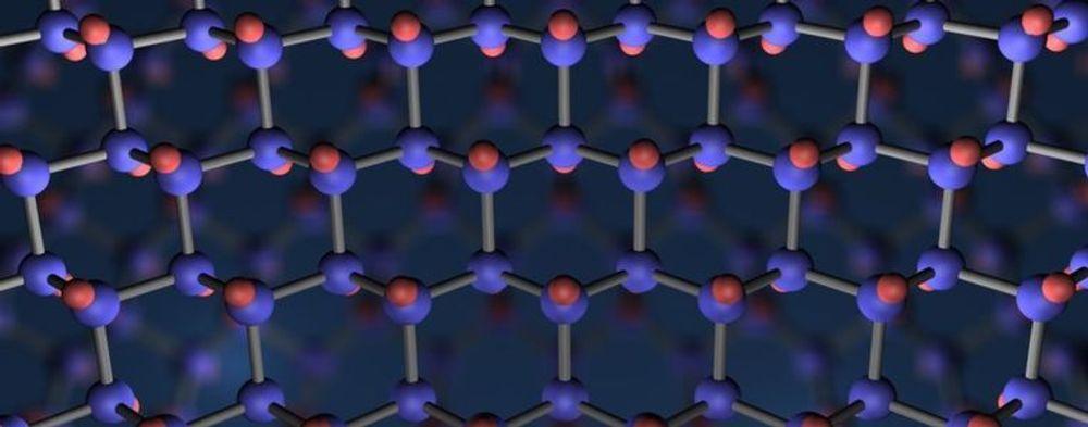 Bikakemønsteret som kjennetegner grafenmolekylene.