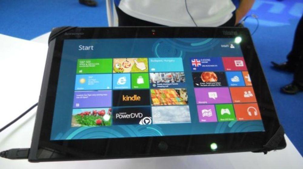 Prototype av et Lenovo ThinkPad-nettbrett med Windows 8.