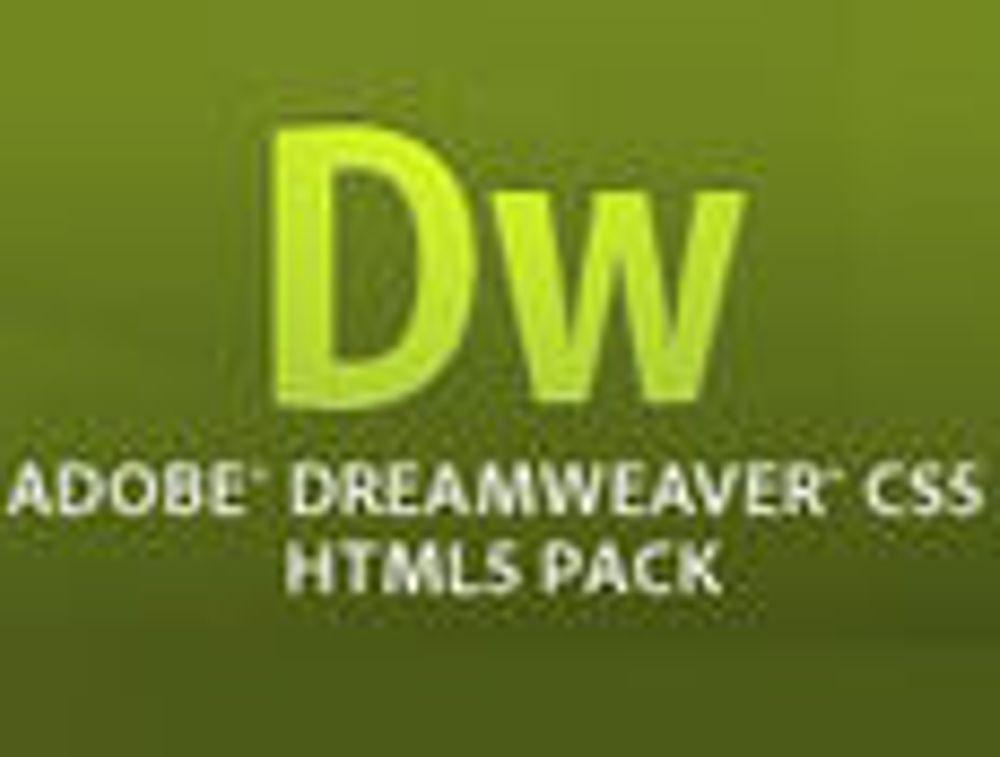 Utstyrer Dreamweaver med egen HTML5-pakke