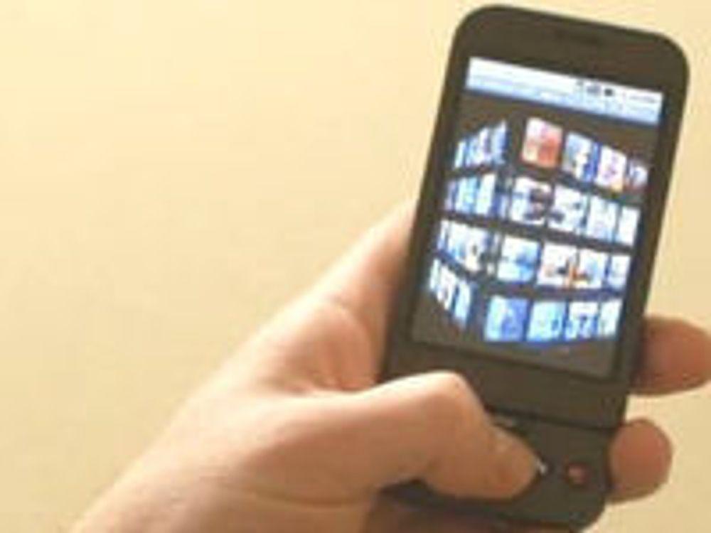 Mobiltelefon med innebygd 3-aksers gyroskop.