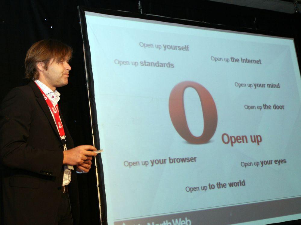 Open up: Den åpne weben vil vinne frem, mener Opera-sjef Lars Boilesen.