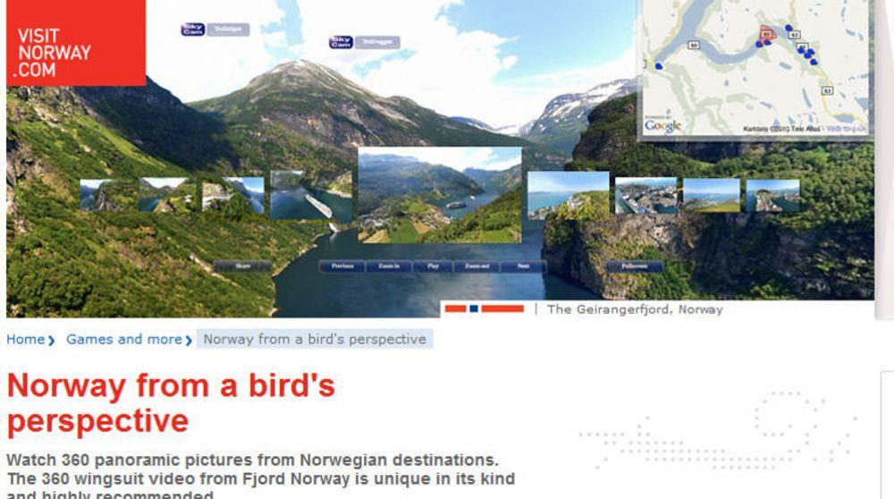 Nettsidene til Visitnorway gikk til topps i Webby Awards for i år. Nettsidene har vært svært populære, ifølge Innovasjon Norge.