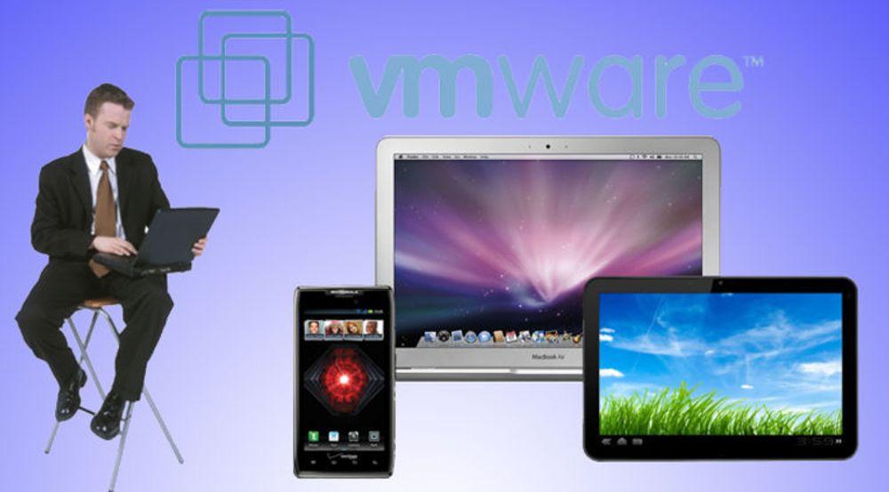 Om man bruker pc, brett eller smartmobil, skal apper og virtuelle pc-er kunne leveres som selvbetjente tjenester, mener VMware.