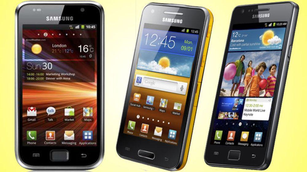 Det er sterk etterspørsel etter Samsungs smartmobiler, inkludert disse Galaxy-modellene.