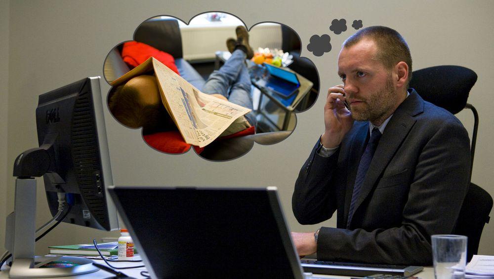 Sjefen ser på ansattes bruk av hjemmekontor som en slags fridag. FOTO: Per Ervland