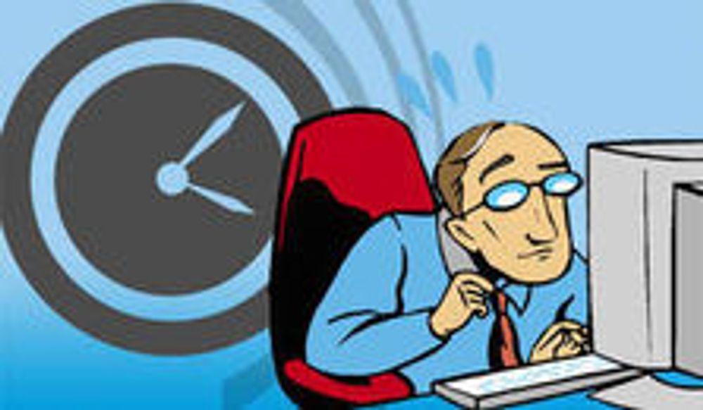Unge IT-folk sliter seg ut på overtid