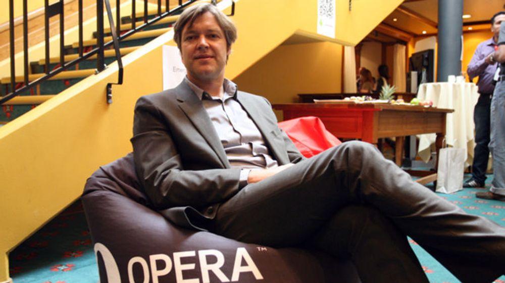 Toppsjef i Opera Software, Lars Boilesen, kunne presentere svært gode tall for tredje kvartal.