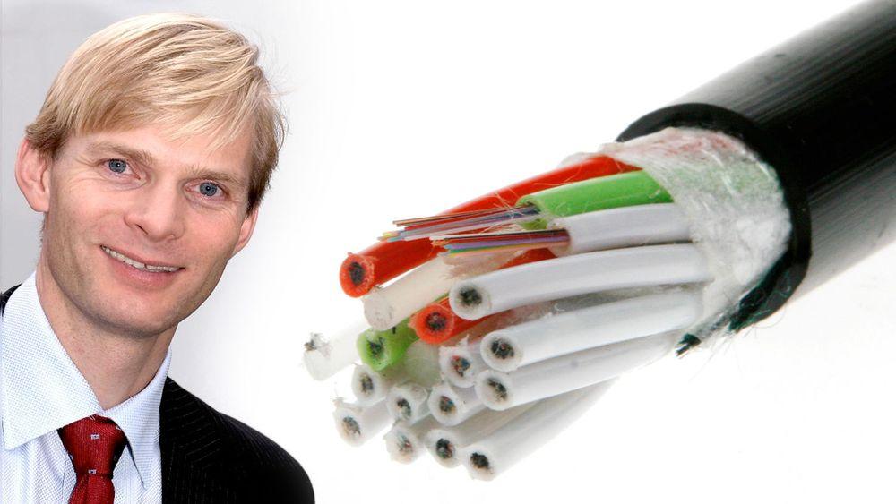 Styreleder i Kabel Norge, og samfunnskontakt i Get, Øyvind Husby, er ikke imponert over FrPs forslag om å åpne de lukkede aksessnettene.
