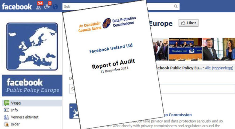 Det irske datatilsynet har utgitt en detaljert gjennomgang av personvernpraksisen til Facebook.