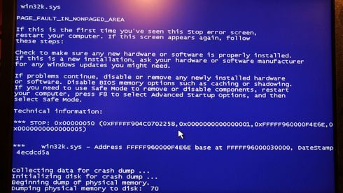 Blåskjerm (BSOD) på en Windows-PC-