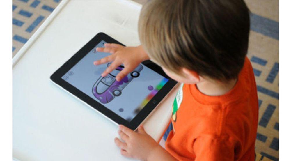 Oppsiktsvekkende mange norske barn bruker nettbrett.