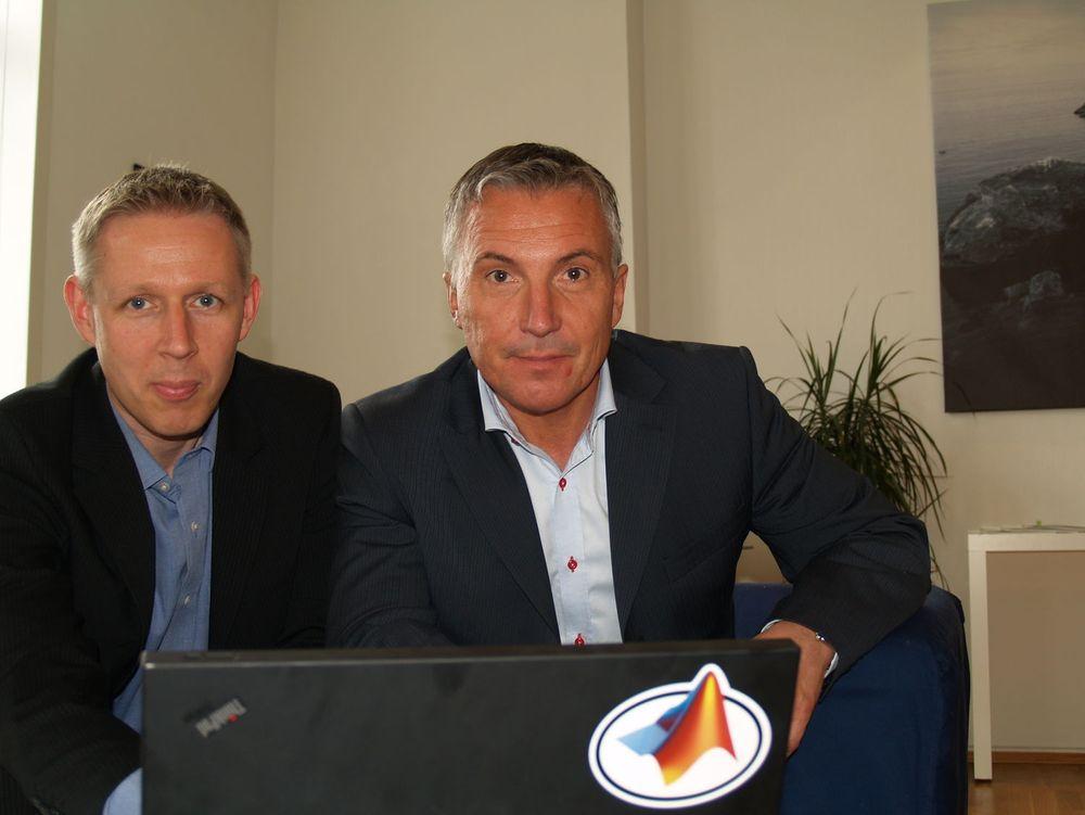 Peter Sandberg (t.v.) og Yngve Nygren er henholdsvis teknologisjef og daglig leder i The MathWorks Nordic. De tar sikte på å utvide det norske kundegrunnlaget for modellbasert konstruksjon og design, utover miljøer som Kongsberg-gruppen. Smart, StatoilHydro og Norges Bank.