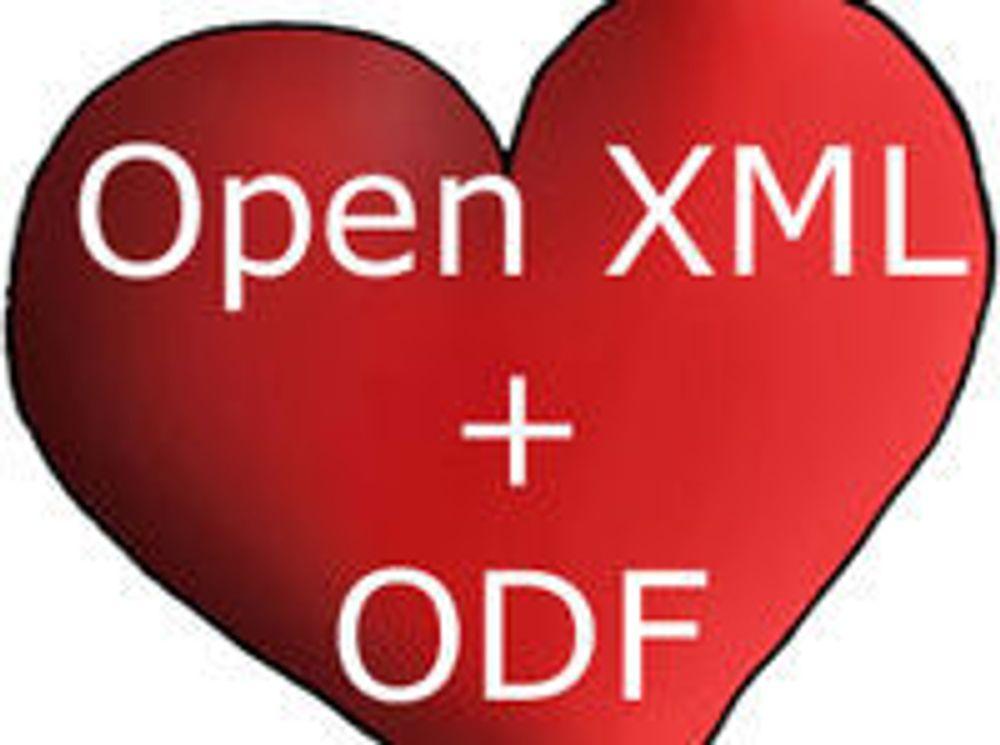 Sidestiller ODF og OOXML