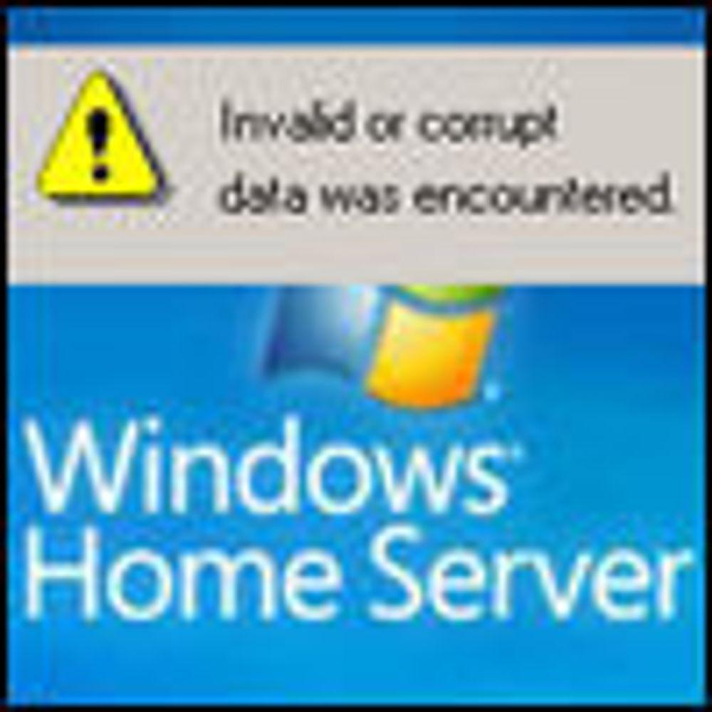 Fortsatt datafeil med Microsoft hjemmeserver