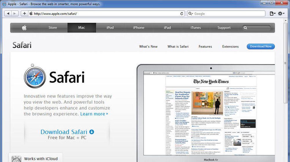 Apple Safari 5.1.4 for Windows.