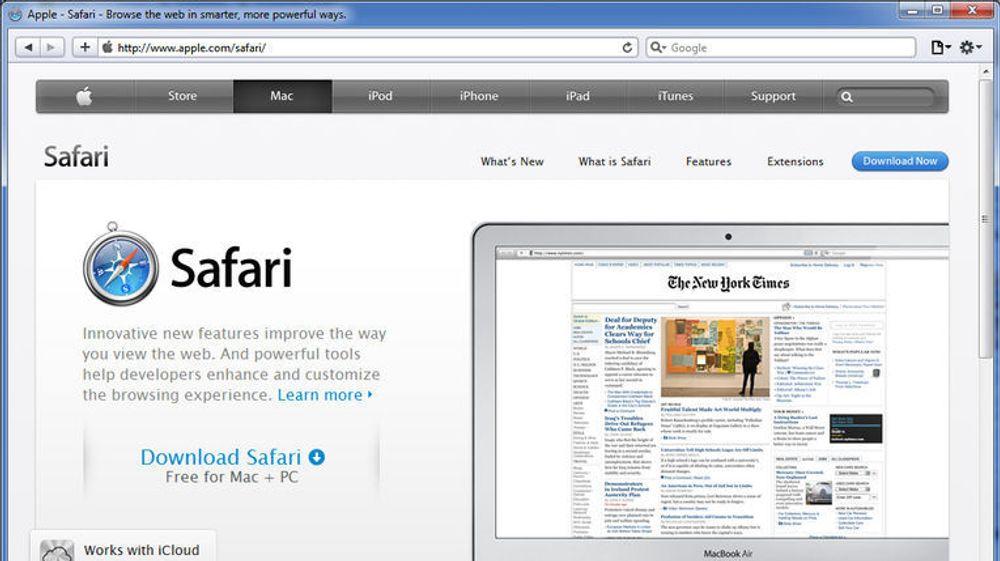Apple Safari 5.1.4 for Windows.