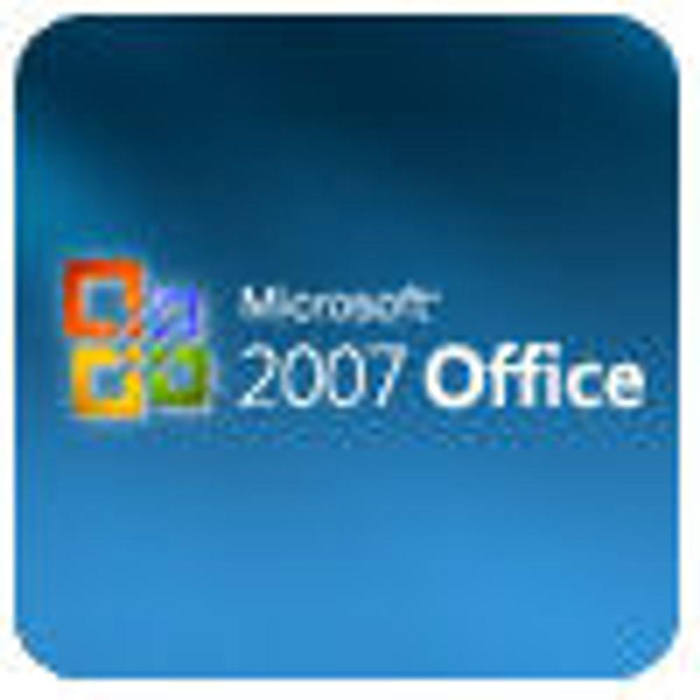 SP1 for Office 2007 må lastes ned manuelt