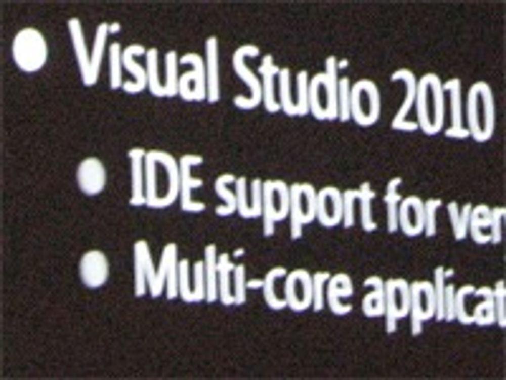 Viste fram Visual Studio 2010