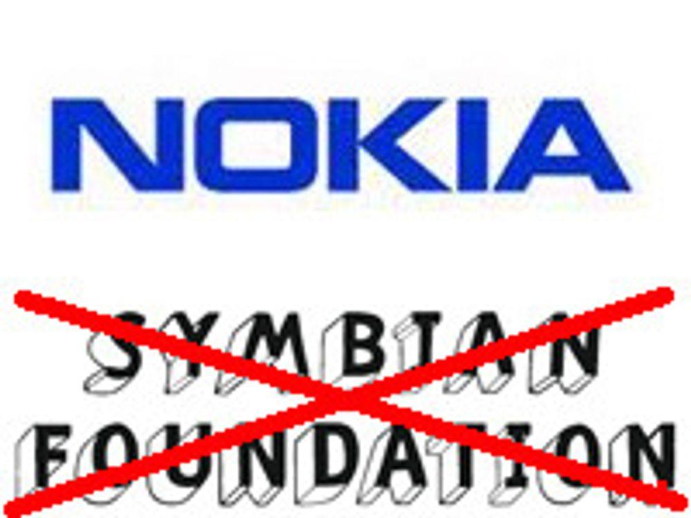 Nokia overtar Symbian-utviklingen