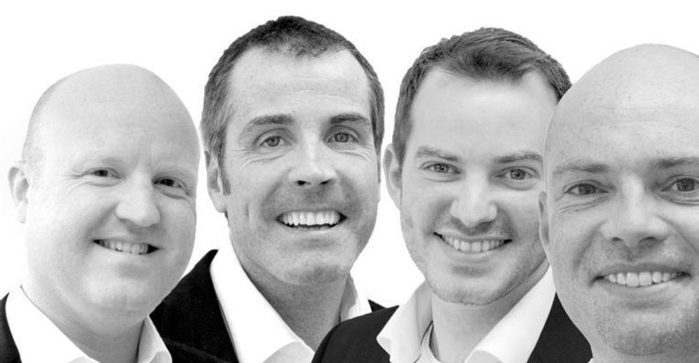 Seniorpartnerne i binR har alle mange års erfaring fra Elan (fra venstre): Terje Fantoft, Marius Wiltil, Egil Joachim Johansen og Christopher Hodkin.