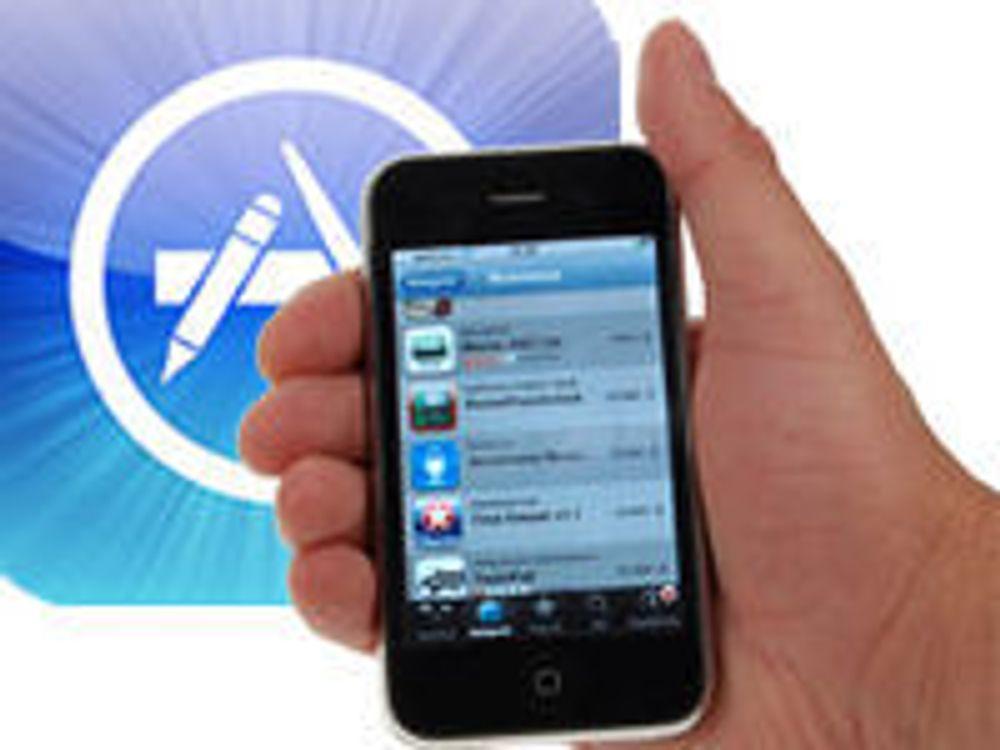 Salget av mobilapps øker kraftig