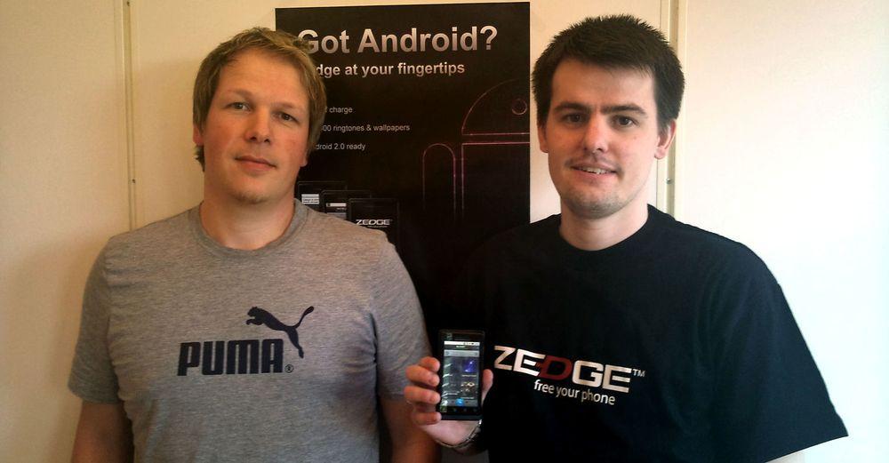 612e1c343b9 Klokkertro på Android  (fra v.) Zedge-medgründer Tom Arnøy og hovedutvikler