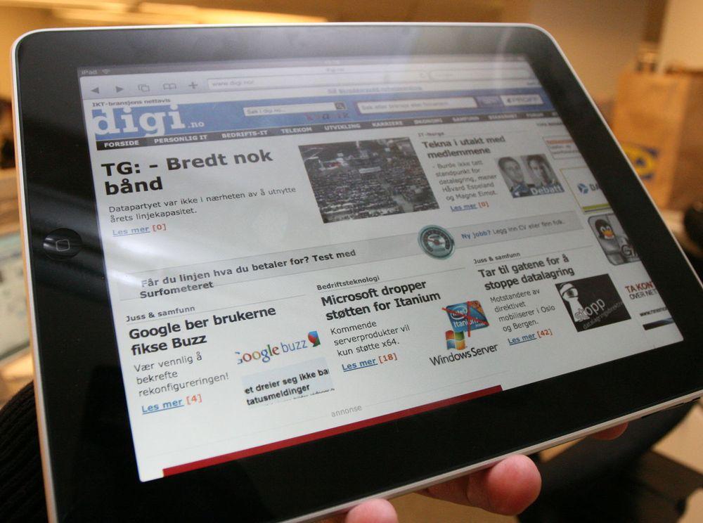 Mange nordmenn vil ha iPad
