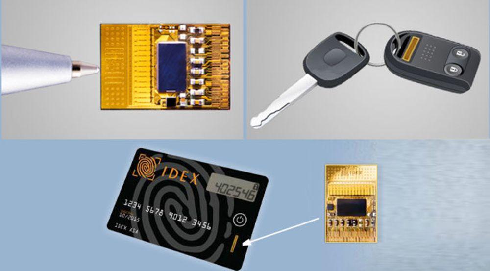 Biometriske ID-kort er en av mange mulige anvendelser av SmartFinger-teknologien til Idex.