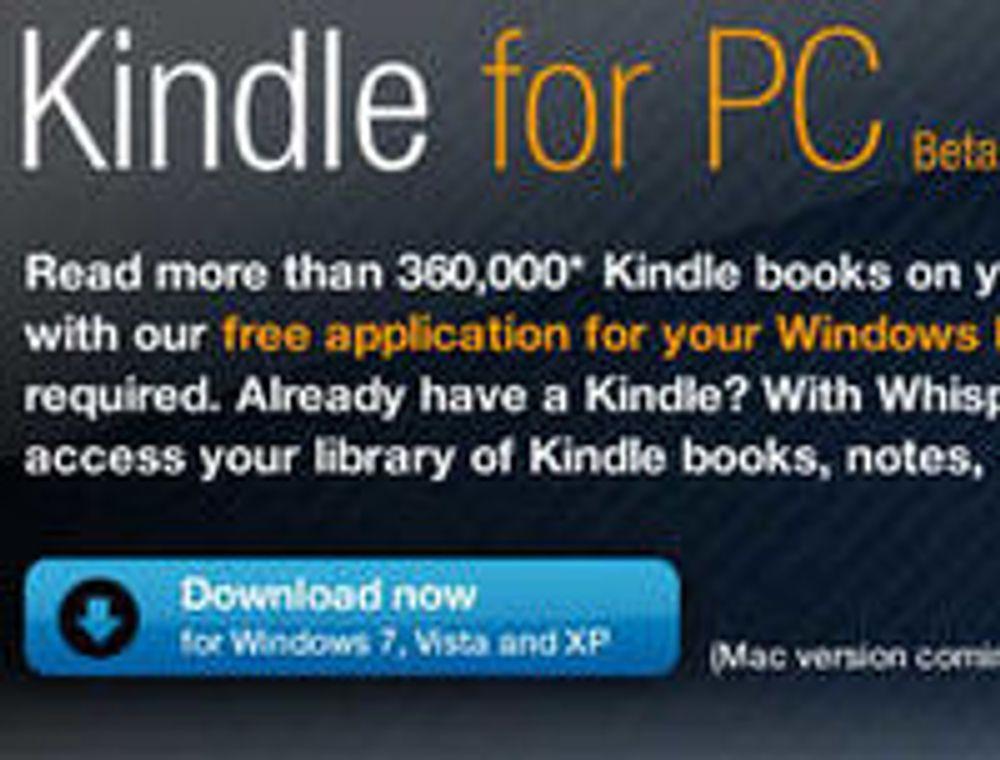 Kindle kan nå lastes ned