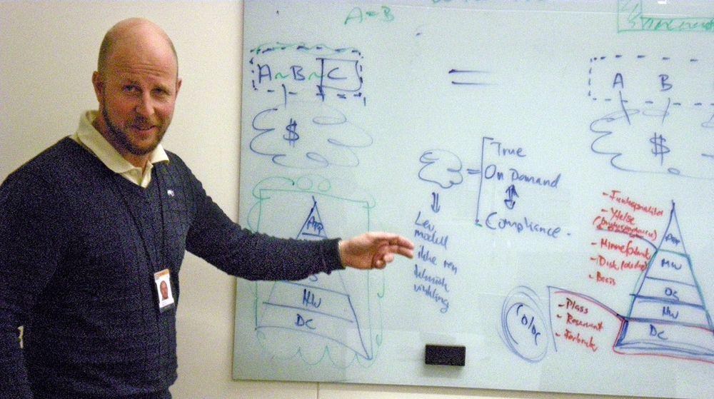 Jan Aril Sigvartsen i Basefarm viser hvordan man kan forene «true on demand» med «compliance».