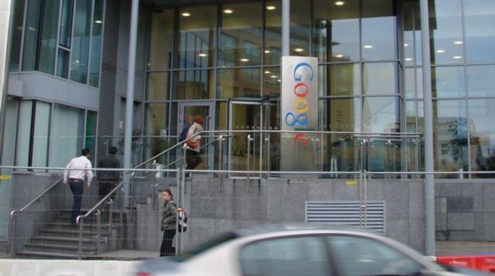 Google er blant IT-gigantene som flokker til Irland. Her fra et av selskapets to kontorbygninger i Barrow Street sentralt i Dublin.