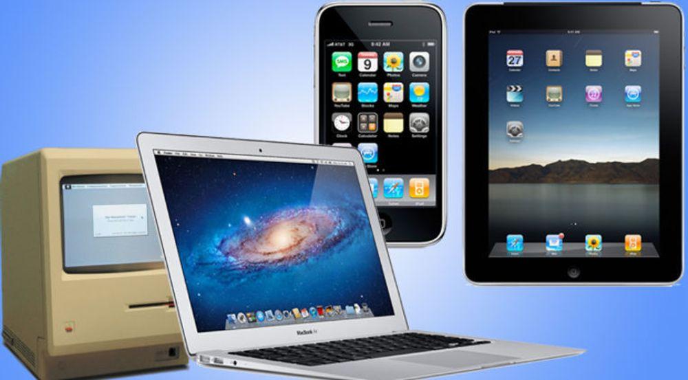 På 28 år er det solgt 122 millioner Mac. På fire år er det solgt 316 millioner iOS-enheter (iPod Touch, iPhone og iPad).