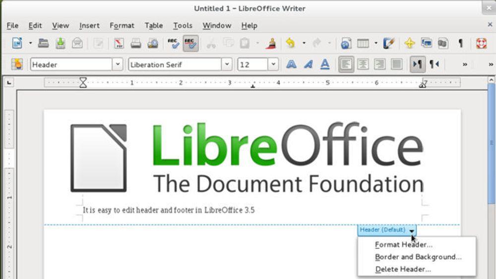 LibreOffice er nå klar i versjon 3.5.