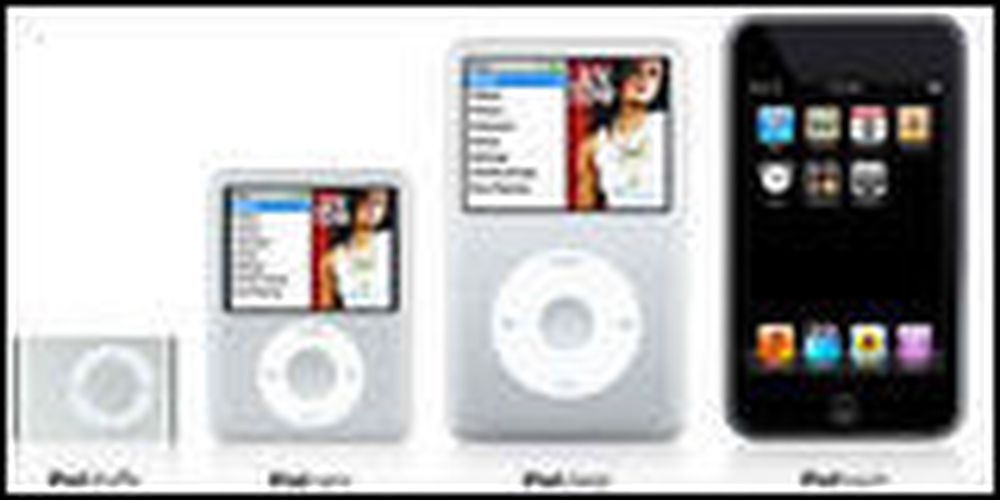 Apple fornyer hele iPod-familien