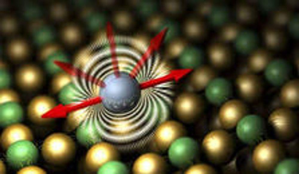 Trenger bare et atom for å lagre en data-bit