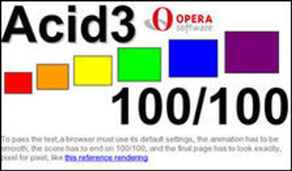 Opera tok full pott i Acid3-testen