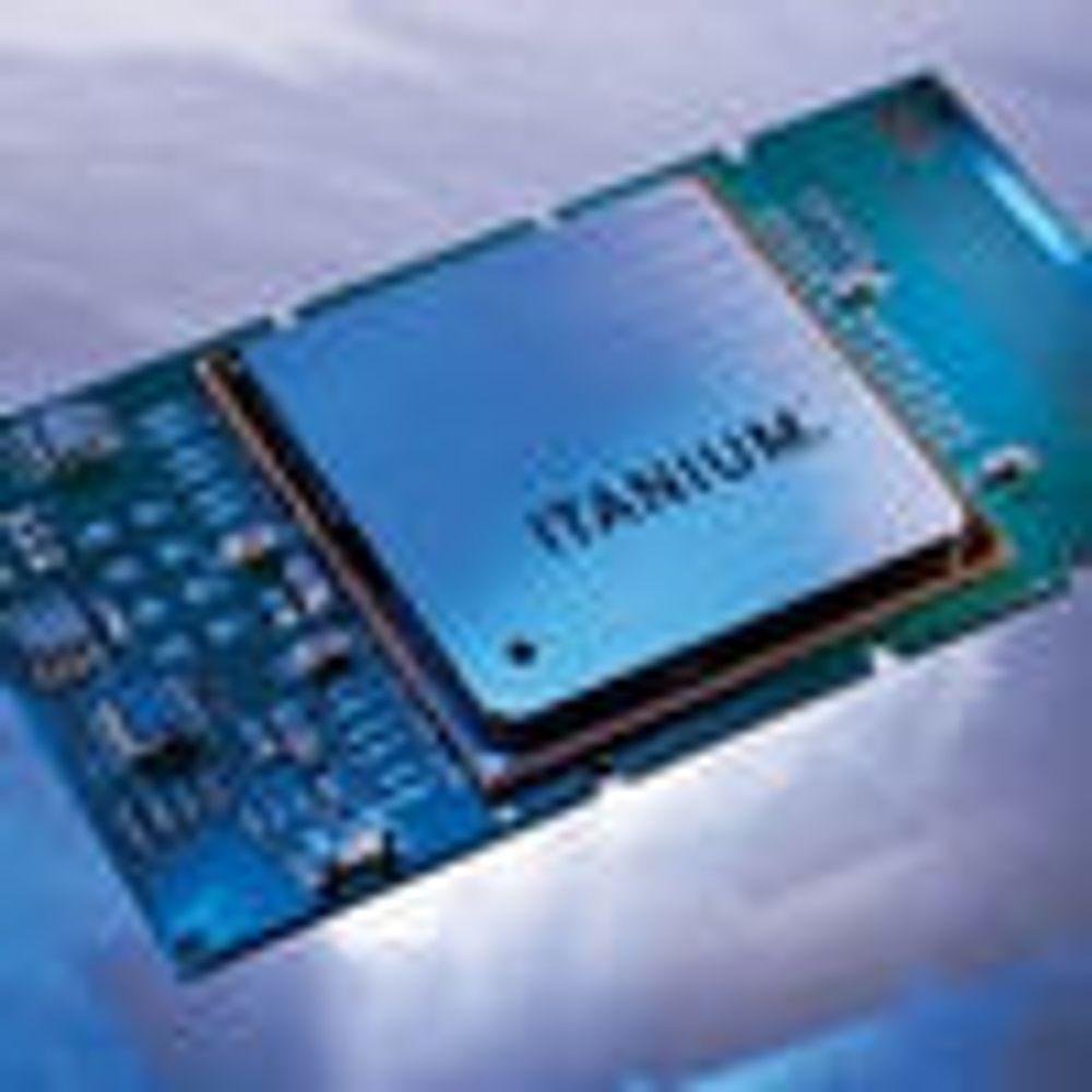 Klare til å vise firekjerners Itanium