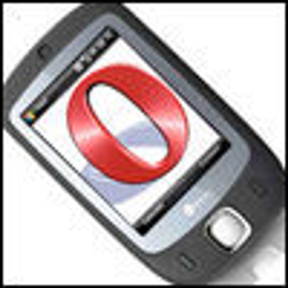 Opera med oppdatert nettleser til mobiler