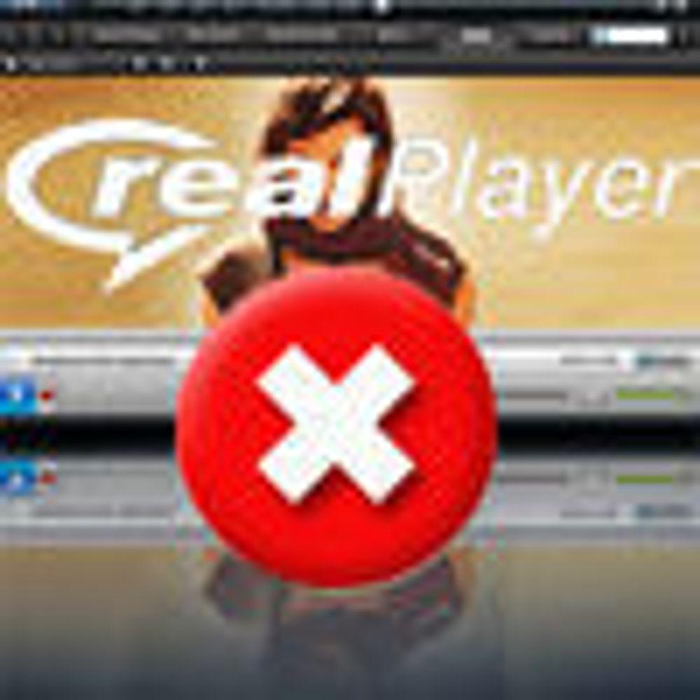 - RealPlayer er fortsatt invaderende