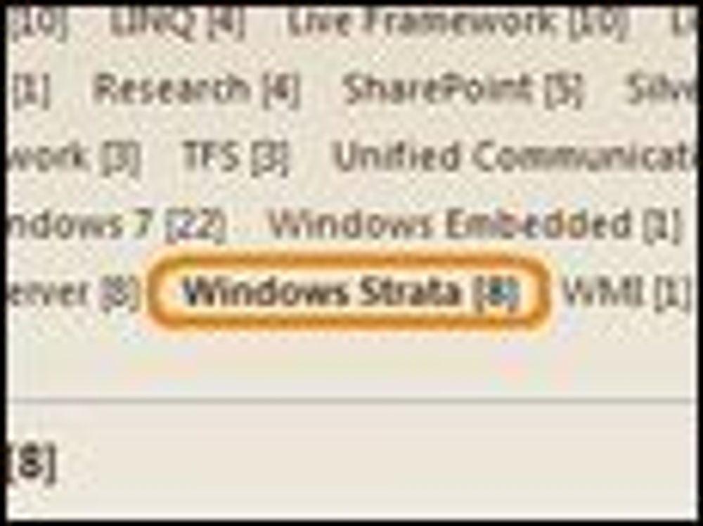 PDC 2008-fordrag, inkludert kategorien Windows Strata, som senere har blitt fjernet. Bilde: Kit Ong