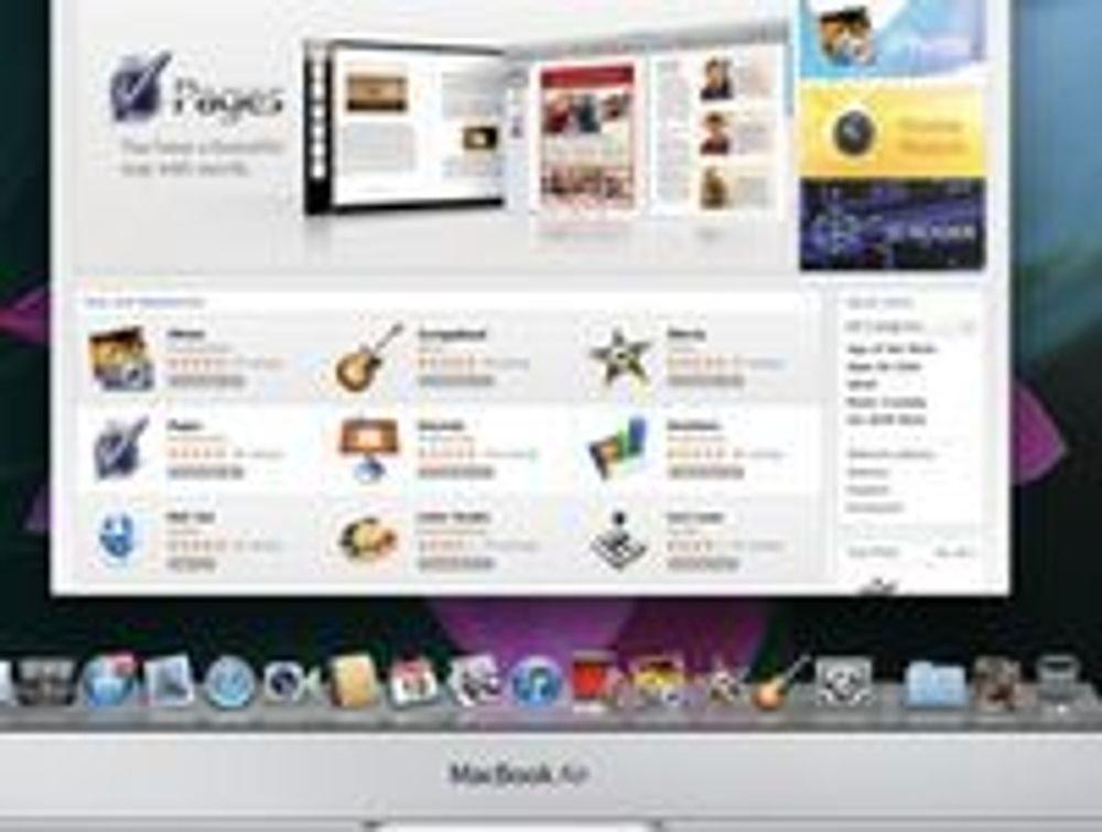Tidlig utgave av Mac App Store.