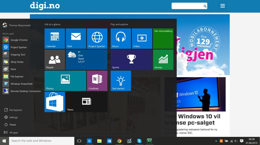 Alt tyder på at Windows 10 vil slippes sent i juli.